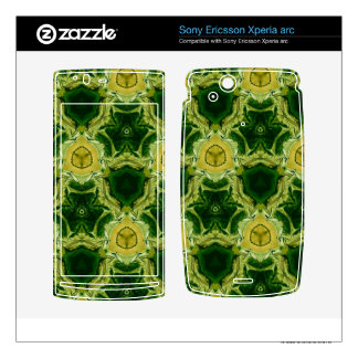 Yellow abstract patter xperia arc skins