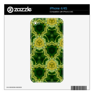 Yellow abstract patter iPhone 4S decal
