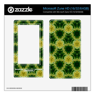 Yellow abstract patter skin for the zune HD