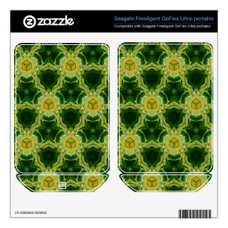 Yellow abstract patter skin for FreeAgent GoFlex