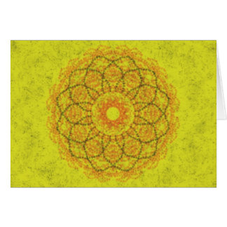 Yellow abstract pattern stationery note card