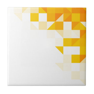 Yellow Abstract Pattern Ceramic Tile