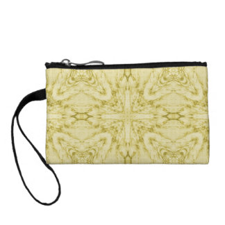 Yellow abstract pattern coin wallet