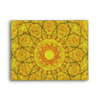 Yellow abstract pattern envelope