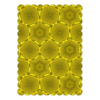 Yellow abstract pattern custom invitation