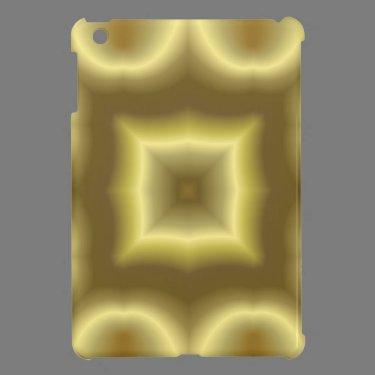 Yellow abstract pattern iPad mini cover