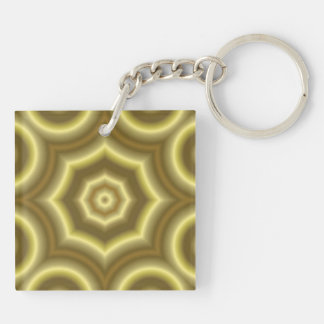 Yellow abstract pattern keychain