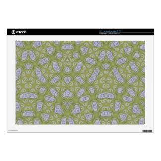 Yellow Abstract Pattern Laptop Skin