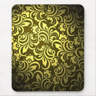 Yellow abstract pattern mouse pad
