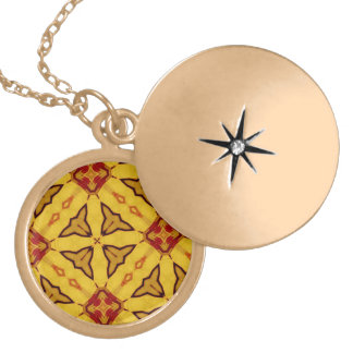 Yellow abstract pattern custom jewelry