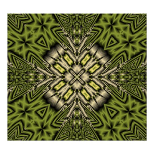 Yellow abstract pattern poster