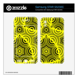 Yellow abstract pattern samsung STAR S5230C skins