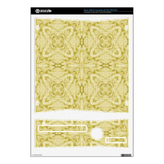 Yellow Abstract Pattern Decals For The Xbox 360 S
