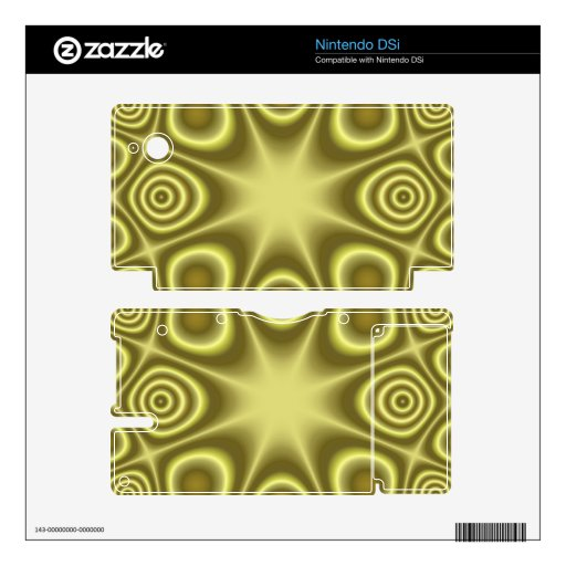 Yellow abstract pattern skin for the DSi