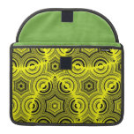Yellow Abstract Pattern Sleeves For MacBook Pro
