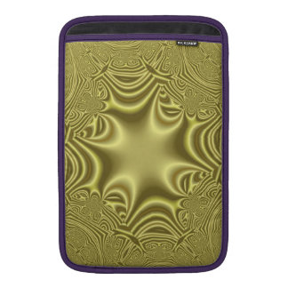 Yellow abstract pattern with cross MacBook sleeves