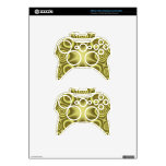Yellow abstract pattern xbox 360 controller skin