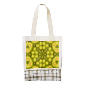 Yellow abstract pattern zazzle HEART tote bag