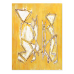 Yellow Abstract Postcards Fine Art Couple Painting