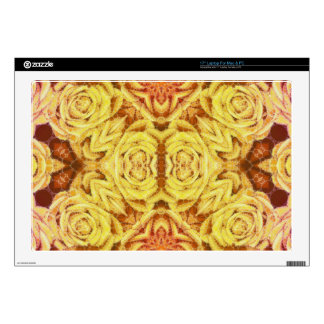 """Yellow Abstract Roses 17"""" Laptop Decal"""