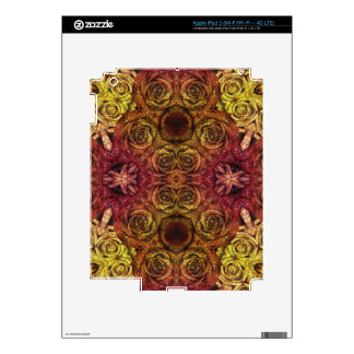 Yellow Abstract Roses iPad 3 Decal
