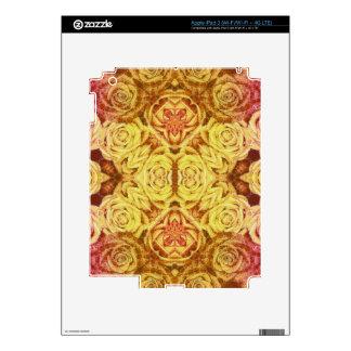 Yellow Abstract Roses iPad 3 Skins