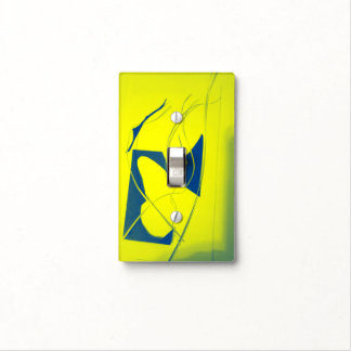 YELLOW ABSTRACT TOGGLE SWITCH LIGHT SWITCH PLATES