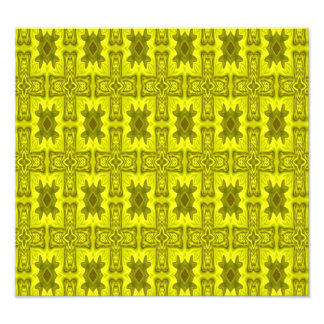 Yellow abstract wood cross photograph