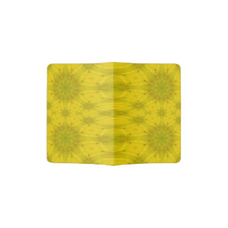 Yellow Abstract Wood Passport Holder