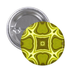 Yellow abstract wood pattern 1 inch round button