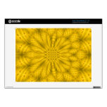 Yellow abstract wood pattern acer chromebook skins