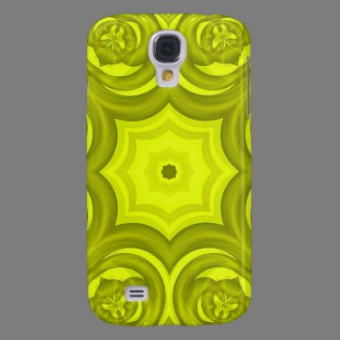 Yellow abstract wood pattern samsung galaxy s4 cover