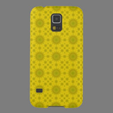 Yellow abstract wood pattern case for galaxy s5