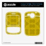 Yellow abstract wood Pattern Cricket TXTM8 Skins