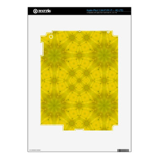 Yellow abstract wood pattern decal for iPad 3