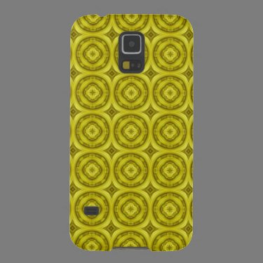 Yellow Abstract Wood Pattern Galaxy S5 Covers