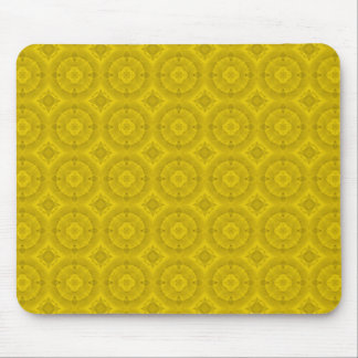 Yellow abstract wood pattern mouse pad