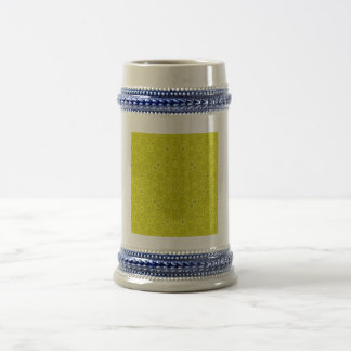 Yellow Abstract Wood Pattern Coffee Mug