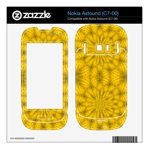 Yellow abstract wood pattern nokia astound skins