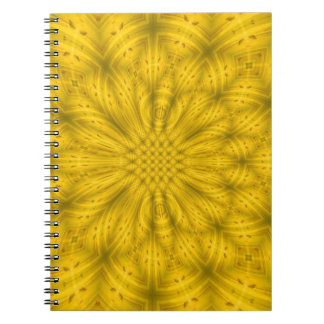 Yellow Abstract wood pattern Journals