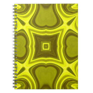 Yellow abstract wood pattern spiral notebook