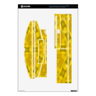 Yellow abstract wood Pattern PS3 Decals