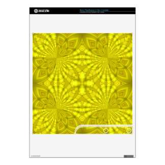 Yellow abstract wood Pattern PS3 Slim Console Decals