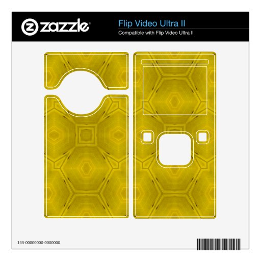Yellow abstract wood Pattern Flip Video Ultra II Decal