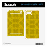 Yellow abstract wood Pattern Samsung Eternity Decal
