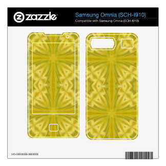 Yellow abstract wood Pattern Decals For Samsung Omnia