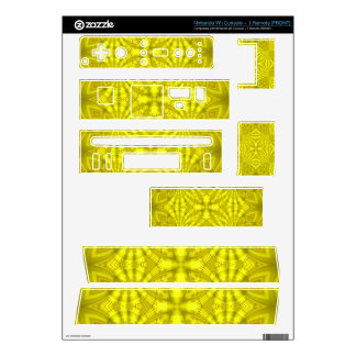 Yellow abstract wood Pattern Decals For The Wii