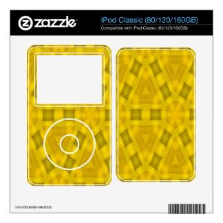 Yellow abstract wood Pattern iPod Decal