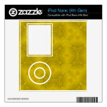 Yellow abstract wood Pattern Skin For iPod Nano 4G