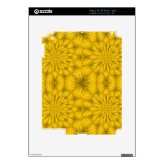 Yellow abstract wood pattern skins for iPad 2